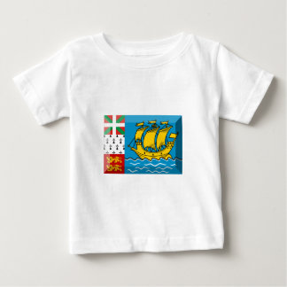 Saint Pierre y joya de la bandera de Miquelon Tee Shirt