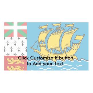 Saint Pierre y Miquelon, bandera de Francia Tarjetas De Visita