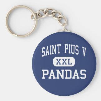 Saint Pius V - Pandas - High - Bronx New York Keychain