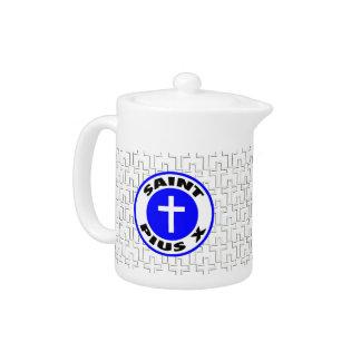 Saint Pius X Teapot