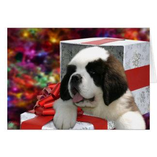 Saint Puppy Christmas Card