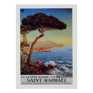 Saint-Raphael Travel Poster