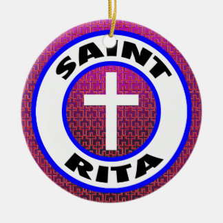 Saint Rita Ceramic Ornament