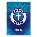 Saint Rita Greeting Card