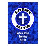 """Saint Rita Invite 5"""" X 7"""" Invitation Card"""