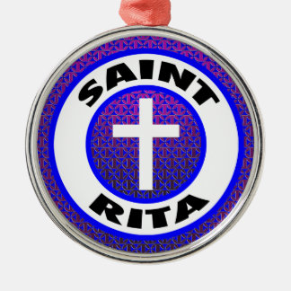 Saint Rita Metal Ornament