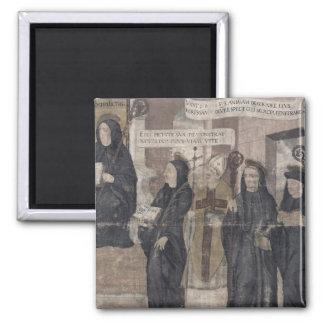 Saint Robert and various Benedictine 2 Inch Square Magnet