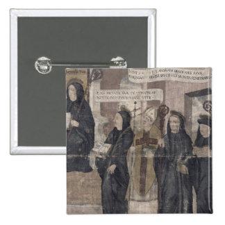 Saint Robert and various Benedictine 2 Inch Square Button