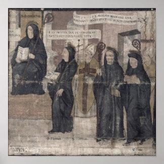 Saint Robert and various Benedictine Poster