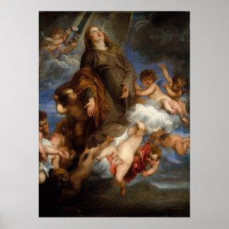 Saint Rosalie - Anthony Van Dyck Print