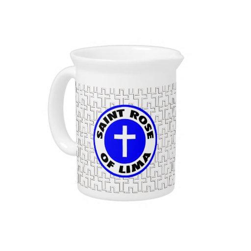 Saint Rose of Lima Beverage Pitchers