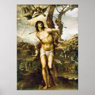 Saint Sebastian by Il Sodoma Poster