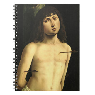 Saint Sebastian, c.1490s (tempera on panel) Notebook