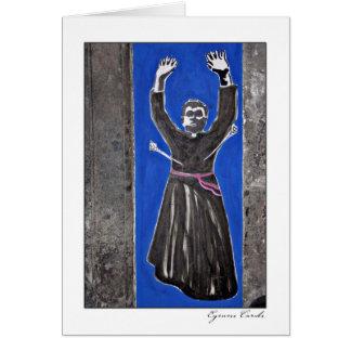 Saint Sebastian Graffiti Card