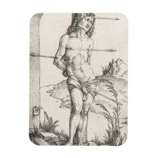 Saint Sebastian Tied to a Column by Albrecht Durer Flexible Magnet