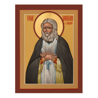 Saint Seraphim of Sarov Prayer Card Postcards