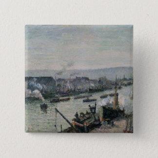 Saint-Sever Port, Rouen, 1896 Pinback Button