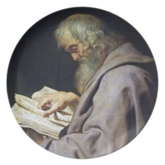 Saint Simon  Peter Paul Rubens oil portrait Dinner Plate