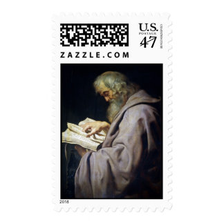 Saint Simon  Peter Paul Rubens oil portrait Postage Stamp