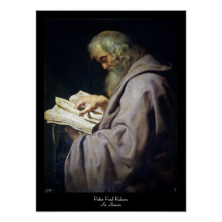 Saint Simon  Peter Paul Rubens oil portrait Poster