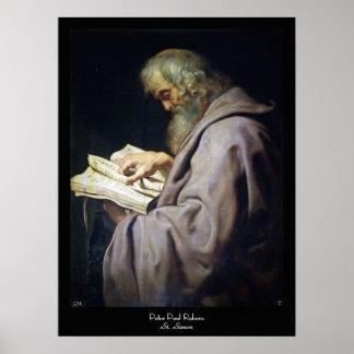 Saint Simon  Peter Paul Rubens oil portrait Poster