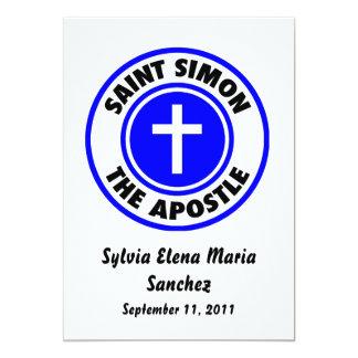"Saint Simon the Apostle Invite 5"" X 7"" Invitation Card"