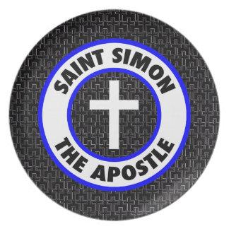 Saint Simon the Apostle Melamine Plate