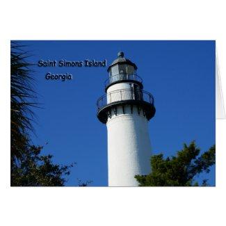 Saint Simons Island Card