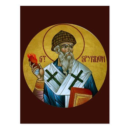 Saint Spyridon Prayer Card Post Cards