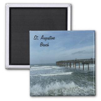 Saint St. Augustine Beach Pier Photo Magnet FL