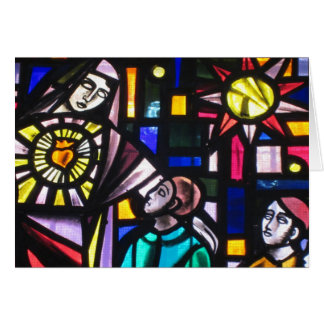 saint stained easter greeting card