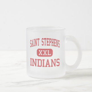 Saint Stephens - Indians - High - Hickory 10 Oz Frosted Glass Coffee Mug