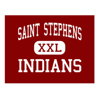 Saint Stephens - Indians - High - Hickory Postcard