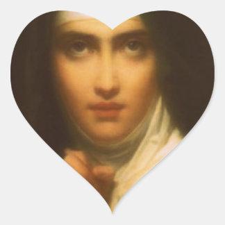 SAINT TERESA OF AVILA HEART STICKER