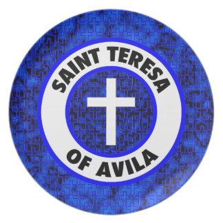 Saint Teresa of Avila Melamine Plate