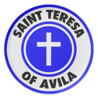 Saint Teresa of Avila Dinner Plates