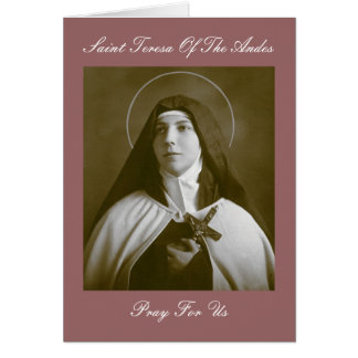 SAINT TERESA OF THE ANDES CARD