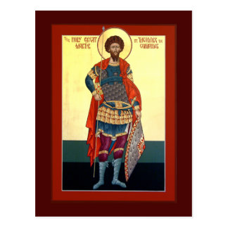 Saint Theodore Prayer Card Postcard