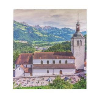 Saint-Theodule parish, Gruyeres, Switzerland Note Pad