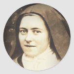 SAINT THERESE OF LISIEUX CLASSIC ROUND STICKER