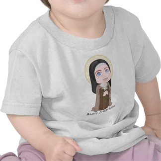 Saint Therese of Lisieux Cute Catholic T-shirts