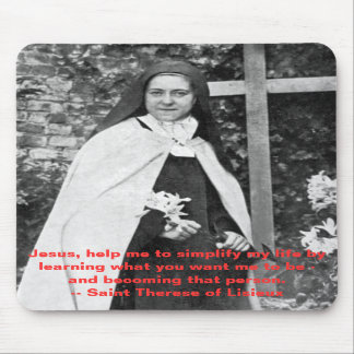 Saint Therese of Lisieux Mousepad