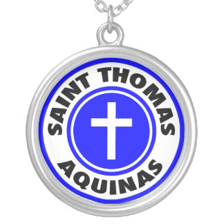 Saint Thomas Aquinas Round Pendant Necklace
