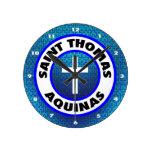 Saint Thomas Aquinas Round Wall Clock
