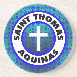 Saint Thomas Aquinas Sandstone Coaster