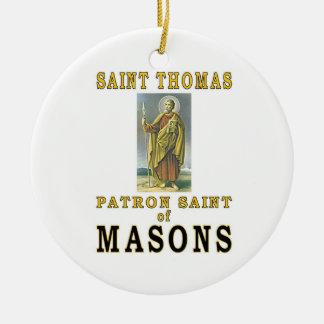 SAINT THOMAS Double-Sided CERAMIC ROUND CHRISTMAS ORNAMENT