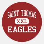 Saint Thomas - Eagles - High - Houston Texas Classic Round Sticker