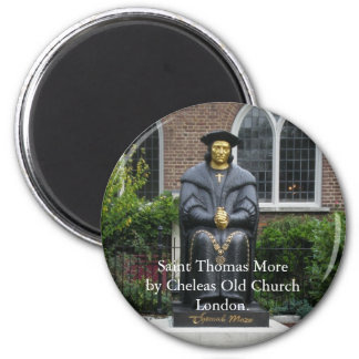 Saint Thomas More 2 Inch Round Magnet