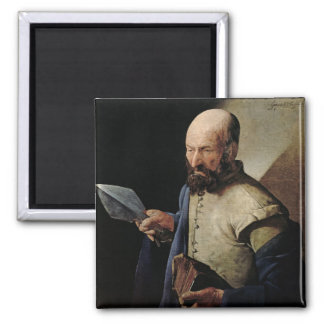 Saint Thomas (oil on canvas) 2 Inch Square Magnet