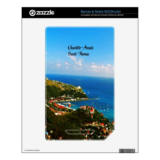 Saint Thomas Skins For The NOOK Color